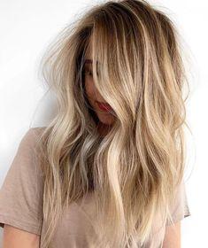 Blonde Highlights With Lowlights, Blonde Balayage Highlights, Balayage Hair, Blonde Hightlights, Natural Blonde Highlights, Soft Balayage, Baylage, Chunky Highlights, Peekaboo Highlights