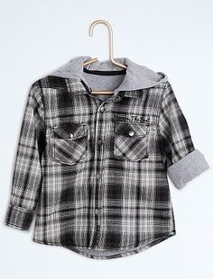 Chemise à carreaux effet 2 en 1                                          carreaux noir Petit garçon