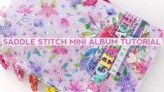 Process Video #151 - Saddle Stitch Mini Album Tutorial - YouTube Mini Album Tutorial, Photo Tutorial, Mini Photo, Evans, Projects To Try, Scrapbooking, Bacharach Germany, Make It Yourself, Stitch