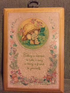 Adorable Mice GIFT plaque by Hallmark (1980) from Baudelaire Antiques