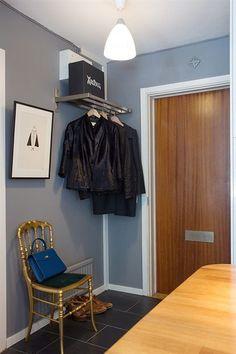 37 m², cocina con península y walk-in-closet - Estilo nórdico | Blog decoración | Muebles diseño | Interiores | Recetas - Delikatissen
