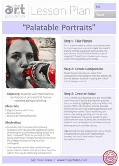 Palatable Portraits: Free Lesson Plan Download