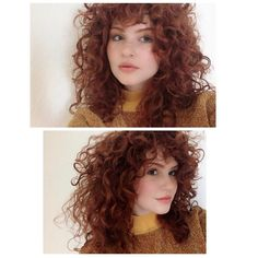 For natural curly hair 9 - jandajoss.me curly hair cuts, short curly hair, Blonde Curly Hair, Curly Hair With Bangs, Curly Hair Tips, Hairstyles With Bangs, Curly Ginger Hair, Hot Hair Styles, Curly Hair Styles, Natural Hair Styles, Hair Looks