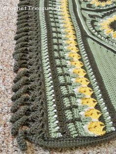 Summer Sunshine Sunflower Throw / handmade / new / afghan /