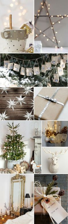 A Fabulous Challenge: Christmas Theme Ideas: Neutral & Natural Woodland Christmas, Nordic Christmas, Christmas Star, Rustic Christmas, Christmas Themes, Christmas Holidays, Christmas Decorations, Xmas, Holiday Decor