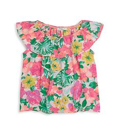 PINC PREMIUM | Girl's Floral-Print Top | SAKS OFF 5th