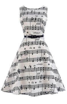 awww it's a music note swing dancing dress