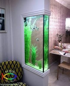 Those are the ideas of aquarium kitchen which can be your inspirations. Placing an aquarium in the kitchen is a smart idea to have a unique decoration. Decor, House Design, Home Interior Design, Indoor Decor, Interior Design, House Interior, Interior, Room Design, Home Decor