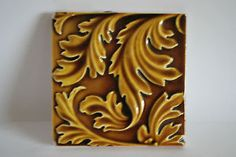 Original-Victorian-Majolica-Tile-with-Oak-Leaves-121