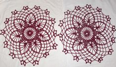 Your place to buy and sell all things handmade Crochet Potholders, Crochet Doilies, Hand Crochet, Crochet Stitches, Christmas Owls, Christmas Decorations, Mehndi, Burgundy, Handmade