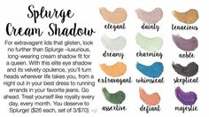Splurge Cream Shadows! #Younique #Splurge Cream Shadows #Makeup  To Order: https://www.youniqueproducts.com/HayleeExline/business