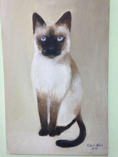 Siamese, oil paint on canvas