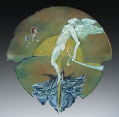 The Enamel Arts Foundation - Collection Harold B. Helwig With Hope Again, 1982 Enamel on copper 11 1/8 x 11 1/8 in. Signed on the reverse: Harold B. Helwig 80112