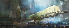 The spaceships and alien worlds of Thomas Pringle Futuristic Art, Futuristic Architecture, Environment Concept, Environment Design, Concept Ships, Concept Art, Cyberpunk City, Spaceship Art, Alien Worlds