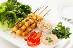 14 Fruity Recipes That Defy Seasonality via Brit + Co ( Three-Ingredient Chicken Pineapple Skewers)