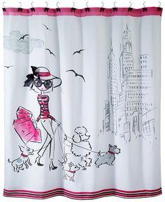 "Avanti Chloe 72"" Square Graphic-Print Shower Curtain - Shower Curtains - Bed & Bath - Macy's"