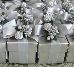 Christmas wedding favors - everyone would take one because they'd want to find out what's inside!