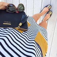 Prep perfect : stripes, Tory Burch, monogram