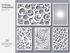 texturadas sala 36 SVG DXF Eps Png Bundle Cut Template Modern Decorative Digital Panel and Stencil Laser Cutting Card CNC kit