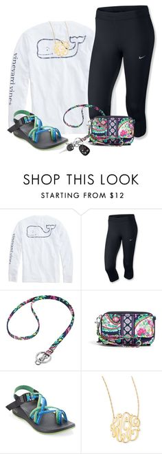 """""""❤️"""" by olivia73001 ❤ liked on Polyvore featuring Vineyard Vines, NIKE, Vera Bradley, Chaco and Jennifer Zeuner"""