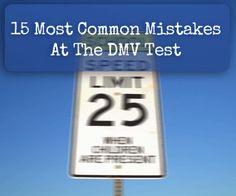 DMV Test: 15 Common Mistakes to Avoid