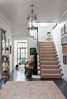 Interesting Interior Design Decoration: Minimalist Interior Design Ideas Foyer With Staircase Custom Bench ~ sabpa.com Interior
