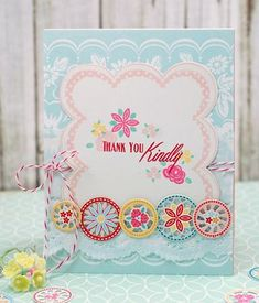 Thank You Kindly Card by Betsy Veldman for Papertrey Ink (May 2015)