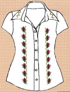 Заготовка для вишивки жіночої сорочки без рукавів (СЖБР-002) Загадкова  шипшина - 2 60563eea98e35