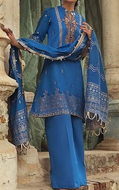 Pakistani Lawn Suits, Royal Blue, Kimono Top, Old Things, Clothes, Tops, Women, Fashion, Outfits