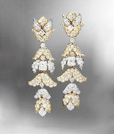 David-Webb-foliate-diamond-drop-earrings-profile