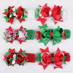 Christmas Theme Hairpins Grosgrain Party Hair Accesorries 4 5 Baby Girl Child Boutique Hair Bows Clips With Headbands 018+1355 Y From Leonllm2008, $7.35 | Dhgate.Com
