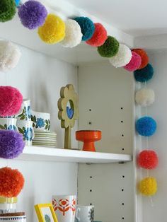 Pompon garland Handmade by alice apple