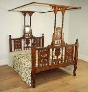 Anglo-Indian Canopy Bed c1900