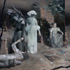 Lars Elling (Norwegian, b. 1966), Infanta II, 2015. Egg oil tempera on canvas, 170 x 170 cm.viazhivopis