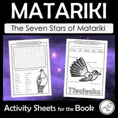 An easy-to-use, print-and-go resource when learning about and celebrating the Māori New Year. This resource is a set of activity sheets to be used after reading the following book to your class: Title: The Seven Stars of Matariki Author: Toni Rolleston-Cummins Illustrator: