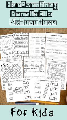 Handwriting Activities for Kids, Letter Sizing, Handwriting Skills, Visual Perceptual Skills, OT