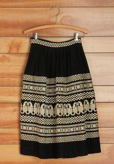 Vintage Alpaca and Ready Skirt, @ModCloth