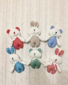 #Little bears and rabbits #TEXTILE TOYS # PRIMITS#Toy bunny#Toy bear