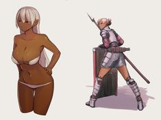 Anime Elf, Thicc Anime, Fanarts Anime, Fantasy Warrior, Fantasy Girl, Dark Fantasy, Female Character Design, Character Concept, Character Art