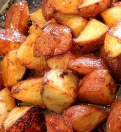 Honey Roasted Red Potatoes: crispy & slightly sweet on the outside, creamy on the inside.
