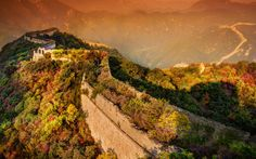 Evening at The Great Wall of China widescreen wallpaper View Wallpaper, Widescreen Wallpaper, Wallpaper Pictures, Nature Wallpaper, Wallpapers, Sunset Hours, Monte Everest, Beautiful Places, Beautiful Pictures