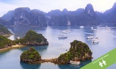 Groupon - Vietnam: $ 985 Per Person for a 15-Day North-South Tour with Cruise + Domestic Flights with Halong Tours Booking in Halong Tours Booking. Groupon deal price: $985