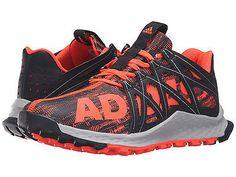 Men's Adidas Vigor Bounce Red Black Running Athletic Trail Shoe AQ7508 Sz 9.5-15