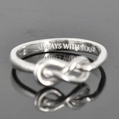 Infinity ring, knot, best friend, promise,personalized, friendship, sisters, mother daughter