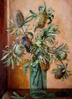 Paintings - Margaret Hannah Olley - Page 4 - Australian Art Auction Records Australian Painters, Australian Artists, Botanical Drawings, Botanical Art, Art Floral, Australian Native Flowers, Australian Wildflowers, Fruit Illustration, Nature Drawing