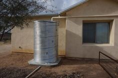 Build a cistern out of corrugated road culvert Homesteading - The Homestead Survival . Water From Air, Water Collection, Rainwater Harvesting, Water Storage, Homestead Survival, Water Conservation, Water Systems, House And Home Magazine, Sustainable Living