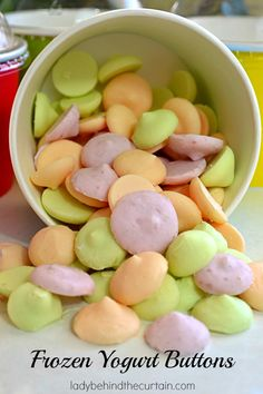Making your own Frozen Yogurt Buttons is a good way to save money and always have a fun treat for the kids!