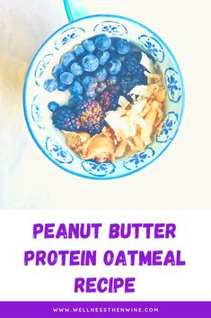 Repin and click for a delicious Peanut Butter Protein Oatmeal Recipe Healthy Breakfast Recipes, Best Breakfast, Vegan Recipes Easy, Healthy Breakfasts, Healthy Eating, Protein Oatmeal, Healthy Sweet Treats, Peanut Butter Protein, Oatmeal Recipes