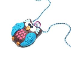 Owl Jewelry Polymer Clay Fimo Jewelry Polymer by PiperPixieDesigns, $20.00
