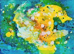Original abstract acrylic painting on cotton canvas